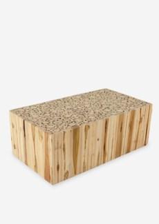 Grayson Coffee Table (Teak Blocck)-Rectangle(43x23.5x16)