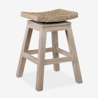 Sanibel Counterstool - White Wash (17.7x17.7x23.5)