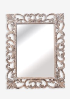Bintra White Wash Wooden Mirror (37X2.4X30)