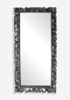 (SP) Bali Grey Wooden Mirror (79X2.4X39)