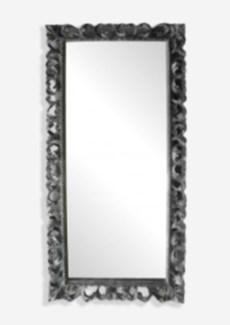(LS) Bali Grey Wooden Mirror (79X2.4X39)