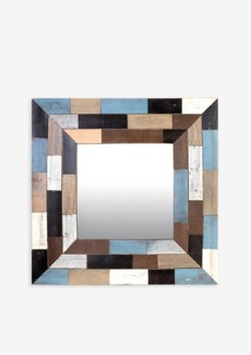 (LS) Mozaic Wood Mirror (35x2x35)..