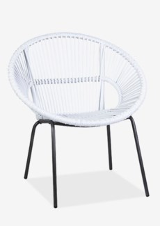 Round Rattan Chair With Metal Legs