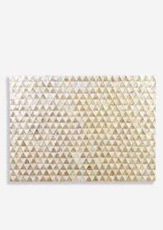 (LS) Capiz Zigzag on Sunburst Pattern in White and Gold Wall Decor..