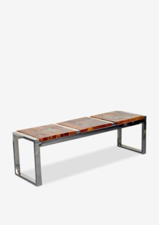 (SP) Uptown Icy wood bench -Natural resin Color (55x16x17)..