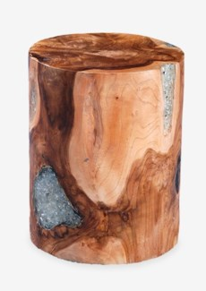 Uptown Round Icy Wood Clear Glass -- Tall