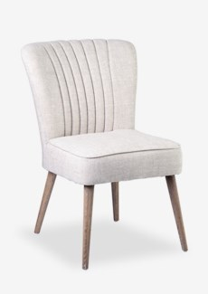 Paige Upholstered Modern Chair - Off White 2pcs/box (26.8x23.2x34.3)