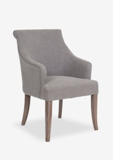 Harper - Rolled Back With Inset Arm Chair. Fabric: Taupe linen texture(23.6x27x37.4)