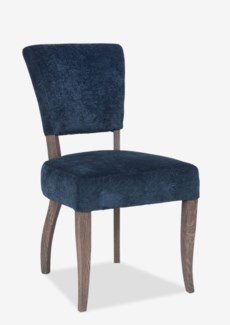 Logan - All Uplhostered Modern Dining Chair. Fabric: Slate Chenille(19.7x25x35.4)