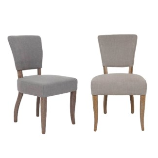 Logan - All Uplhostered Modern Dining Chair. Fabric: Taupe linen texture(19.7x25x35.4)