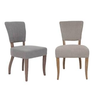 Logan Dining Chair 2pcs/box.  Fabric: Taupe linen texture(20.5x24.5x35.6)