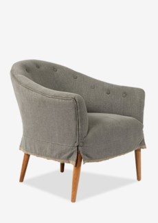 """(LS) Marcelle Upholstered Occasional Chair-Light Grey (26x30X30) (Seat height 17"""").."""