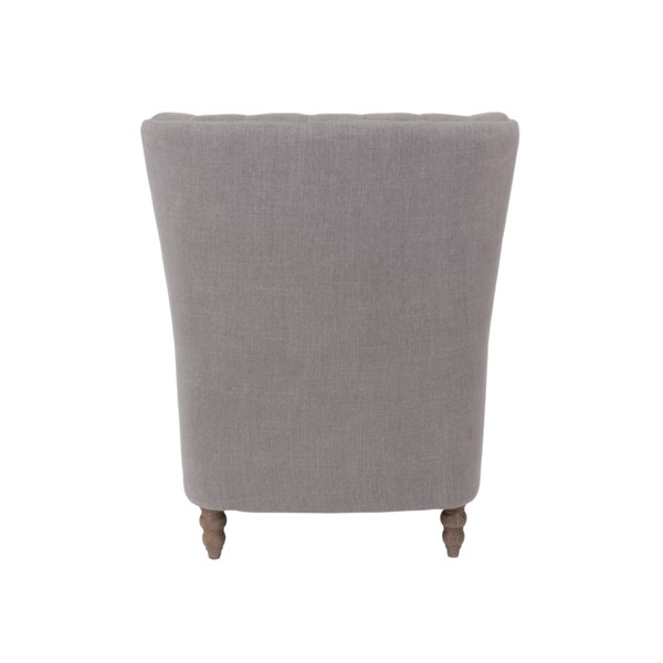 Stockwell Button Tufted Oversized Wing Back Club Chair