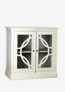 Remington in Circle Cabinet with 2 Doors-Oyster Color (39.25x19.75x39.25)