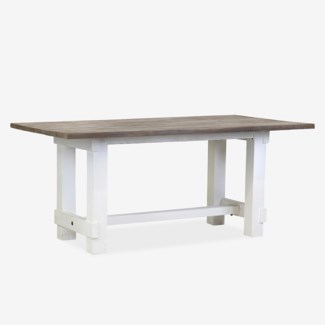 Chauncey Rectangle Dining Table with Natural Fir Top (71X39.5X31)