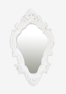 "Annabell 26"" oval mirror - Vintage White"