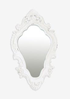 "(LS) Annabell 26"" oval mirror - Vintage White...."