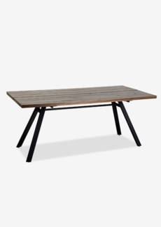 "Bremen 72"" solid dining table with metal base(72X35X31)"
