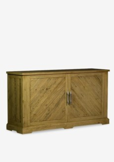"""(SP) (8877) Chevron 62"""" solid pine wood sideboard..pine wood..finish: rustic natural..(62X18X34).."""