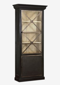 Ellington Display Cabinet (31X12X87) with metal finish accents