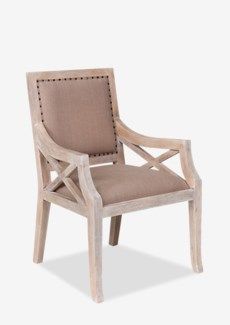 Emilia Dining Arm Chair (25.5x26x37)