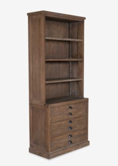Edward Bookcase w/3 Drawers and 3 shelves (Top + Base)-Walnut (S14)