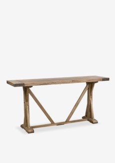 "(SP) (8879) Farmhouse 66"" console table..pine wood..finish: rustic natural..(66X18X32)...."