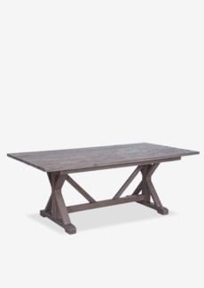 Farmhouse Solid Mindi Wood Dining Table In Grey Finish (78.7x39.4x29.9)