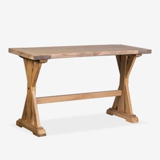 Farmhouse solid pine wood counter height tablepine woodfinish: rustic natural(63X24X35)