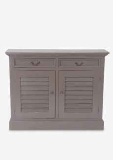 Marcy Shutter 2 Door Cabinet (2 doors & 2 drawers).-Smoke Grey.44x11,5x34,5
