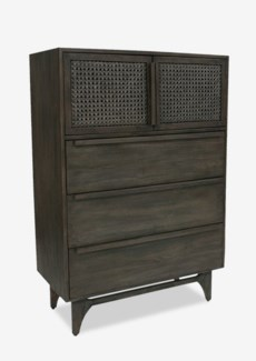 "(SP) Mitchell 36"" cabinet with 2 woven doors and 3 drawers .."