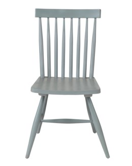 (LS) Midtown Spindle Back Side Chair-Grey..(17.7X18.5X34)..