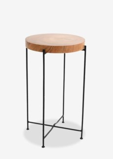 Rivera Side Table With Iron leg-Tall(14X14X24)