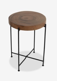 Rivera Side Table With Iron leg-Small(14X14X19)