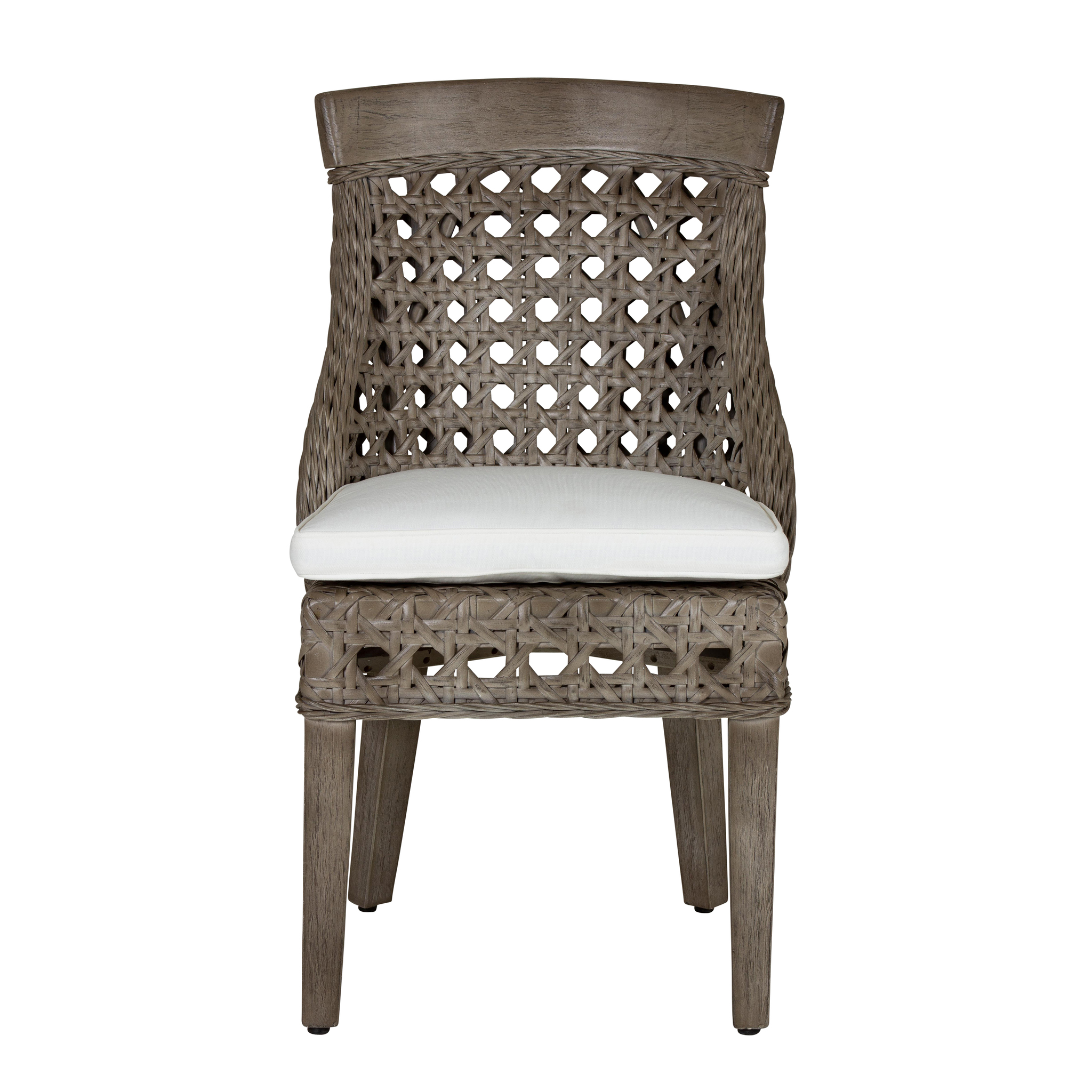 Sahara Side Chair W/ Wood Accent   Grey Wash (22x25.5x37)