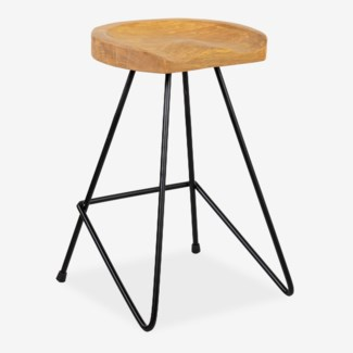 Sallie counterstool with solid metal legs (min 2 pc) (16x16x24)
