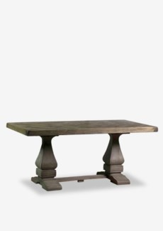 (SP) Benton Trestle Dining Table with Inlaid Top (71x35x30)..