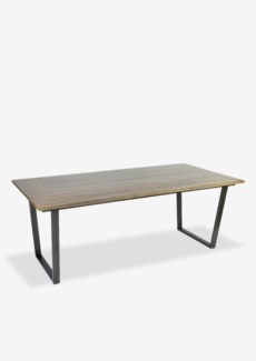 Thomas dining table with metal base(79X39X30)