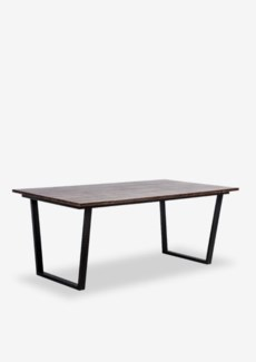 (SP) Thomas dining table with metal base..(67X39X30)..