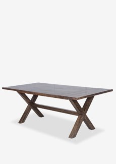 (SP) Townson Solid Dining Table W/Cross Base-Brown Black Wash..(79X39X30)..