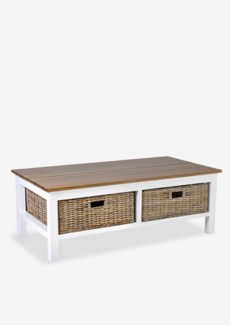 "Townson 49"" Coffee Table with 2 Drawers(49X26X18)"