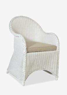 (LS) Marion Rattan Chair-White..(22x25x33)....