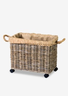 Basket Medium Kubu Grey w/ Rope & Jute Lining (22x14x20)