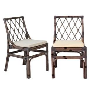 Brighton rattan Side Chair W/Loose Cushion-Grey (20X22X33)