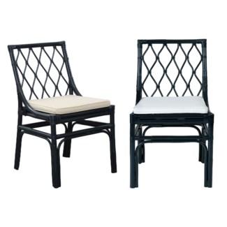 Brighton rattan Chair W/Loose Cushion-Navy Blue(20X22X33)