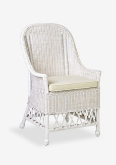 Daphnie Rattan Arm Chair-White Aged Finish (22X23X39)