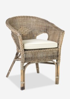 Daphnie Tub Rattan Arm Chair- Grey Wash (24X23X31)