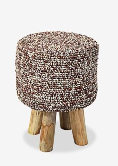 (LS) Rafia Hula Stool-Mixed Brown..