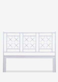 (SP) Lattice Headboard-King - White Solid (77X2X60)