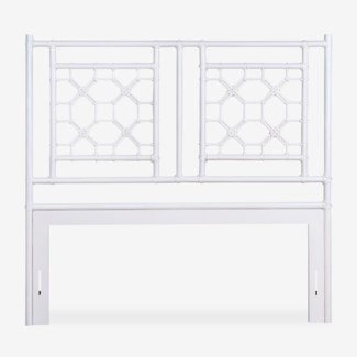 (SP) Lattice Headboard-Queen - White Solid (62X2X60)